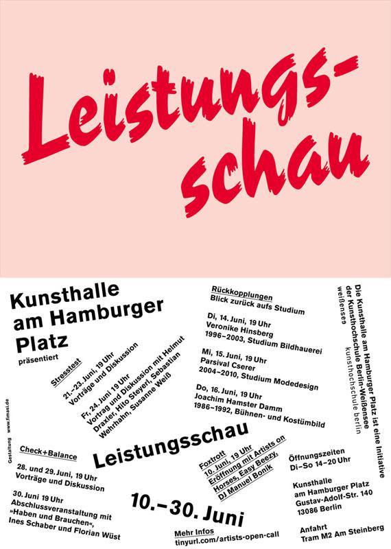 Leistungsschau, Kunsthalle am Hamburger Platz