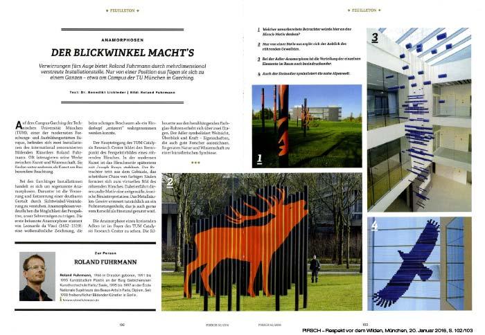 """Benedikt Lickleder """"Der Blickwinkel macht's"""" Pirsch, 2016"""