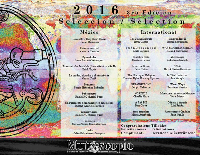 Mutoscopia Festival de Videoarte 2016, Roland Fuhrmann