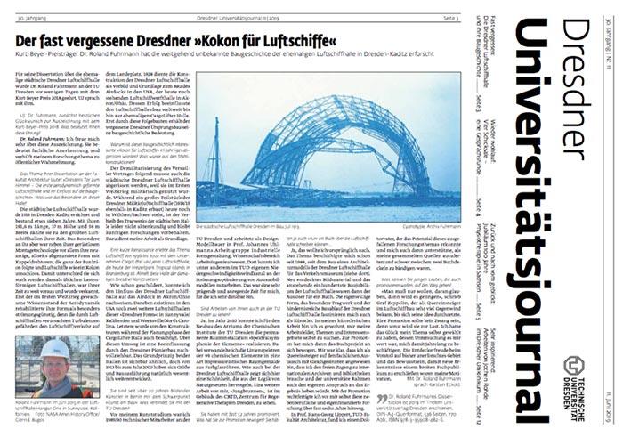 """Karsten Eckold Interview: Der fast vergessene Dresdner """"Kokon für Luftschiffe"""""""